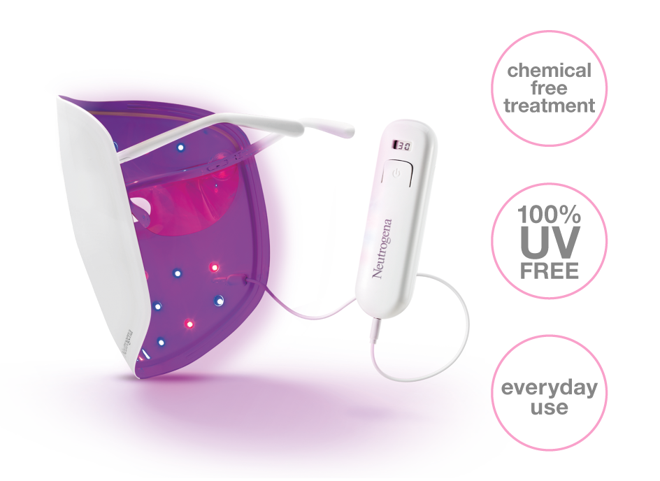 How the Neutrogena Light Therapy Mask works
