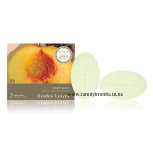 Linden Leaves Vegetable Soaps Ginger and Peach 80g 2 Pack