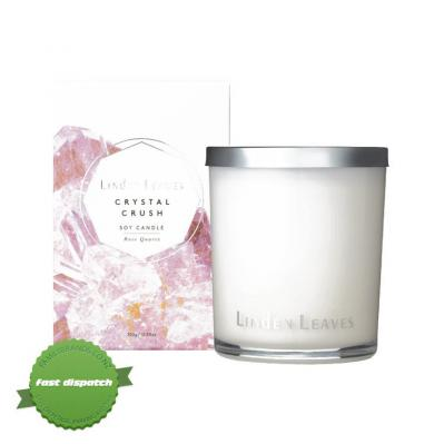 Buy l leaves c crush rose quartz soy candle - Speedy Dispatch