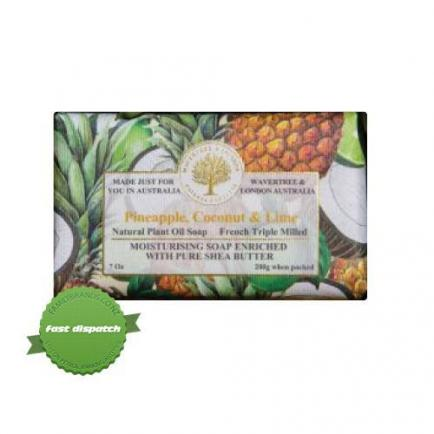 Wavertree and London Natural Products Pineapple Coconut and Lime Soap 200g