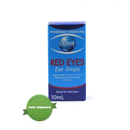 Buy Optrex Red Eyes Drops 10ml - Ships Fast