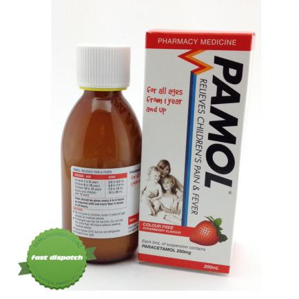 Pamol All Ages Strawberry -