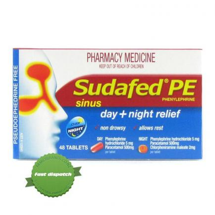 Buy sudafed pe sinus day and night 48 overnight courier anywhere in NZ