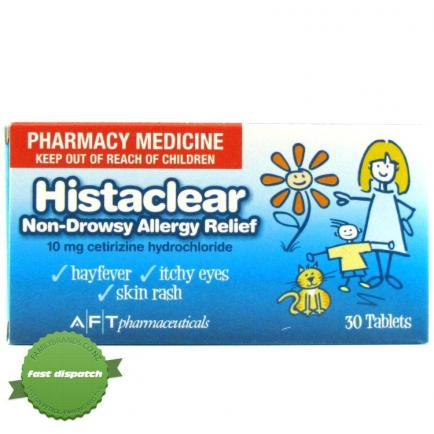 Histaclear 10mg Tablets 30s