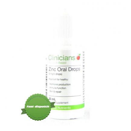 Buy Clinicians Zinc Oral Drops 30ml online - Ships Fast