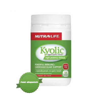 Buy Nutralife Kyolic Aged Garlic 874mg 120 Caps - Speedy Dispatch