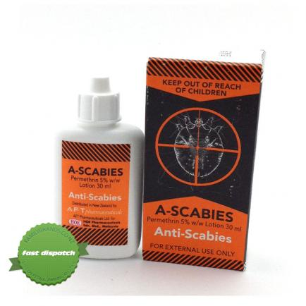 Buy A-Scabies Anti-Scabies Lotion 30ml online - Ships Fast