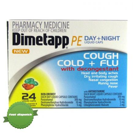 Dimetapp PE Day Night Cough Cold Flu -