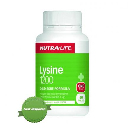 Buy Nutralife Lysine 1200 One A Day 60 Tablets