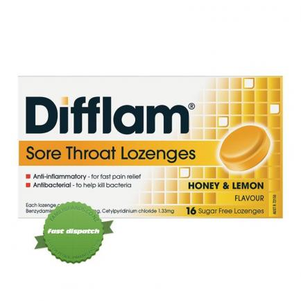 Buy Difflam SF Honey Lemon Plus Anaesthetic 16 Lozenges