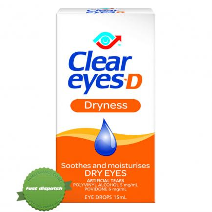 Buy Clear Eyes D Dryness 15ml - Ships Fast