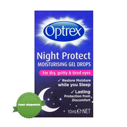 Buy Optrex Night Protect Moisturizing Gel Drops 10ml - Ships Fast