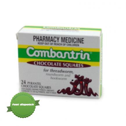 Buy Combantrin Chocolate Squares 24 Pack With Pyrantel Embonate
