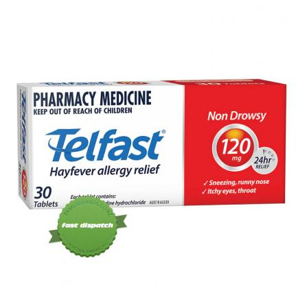 Buy telfast tablets 120mg 30 overnight courier anywhere in NZ
