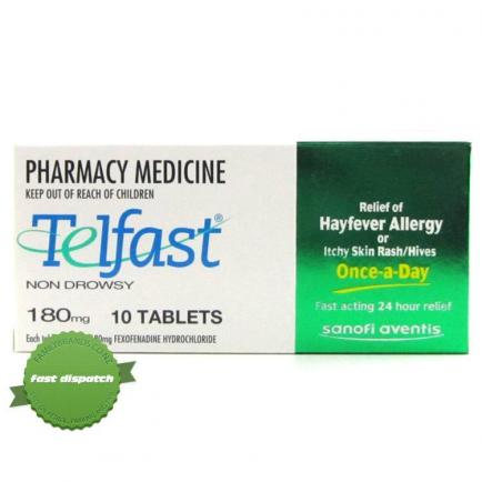 Telfast 180mg Tablets 10 -