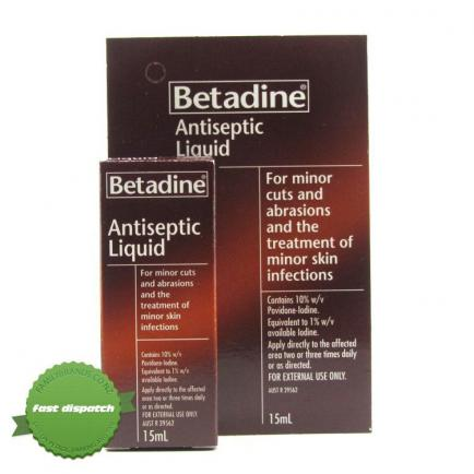 Buy Betadine Antiseptic Liquid 15ml -