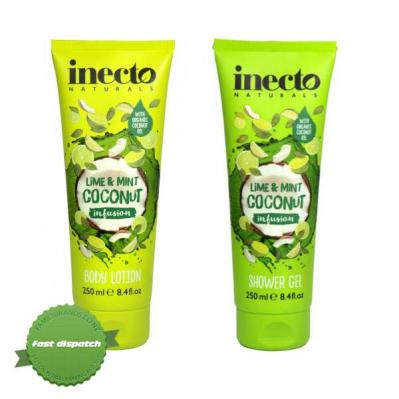 Buy Inecto Naturals Coconut Infusion Lime and Mint Set 2 x 250ml - Speedy Dispatch