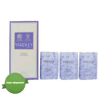 Buy Yardley Lavender Soap 3 x 100g - Speedy Dispatch