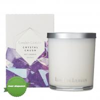 Buy Linden Leaves Crystal Crush Amethyst Soy Candle 300g - Speedy Dispatch