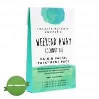 Buy Organik Botanik Weekend Away Coconut Oil Hair Facial Treatment Pack - Speedy Dispatch