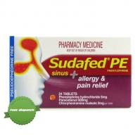 Buy sudafed pe sinus aller pain 24 overnight courier anywhere in NZ