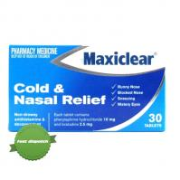 Maxiclear Cold and Nasal Relief 30 Pack