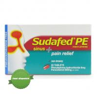 Buy Sudafed PE Sinus Plus Pain Relief 20 Tablets -