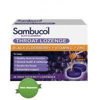 Buy Sambucol Black Elderberry Throat Lozenges 20 High Potency Lozenges