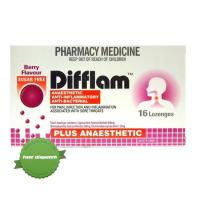 Buy Difflam Plus Anaesthetic Berry 16 Lozenges