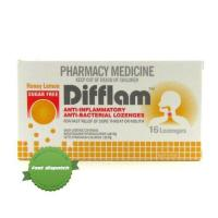 Buy Difflam Lemon Honey Sugar Free Throat Lozenges 16 Pack