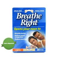 Breathe Right Tan Large 30 - Snop Snoring Nasal Strips - New Zealand Pharmacy