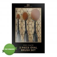 Buy Designer Brands 3 Piece Pro Face Oval Brush Contour Set - Speedy Dispatch