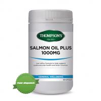 Buy Thompsons Salmon Oil Plus 1000mg 300 Capsules - Ships Fast